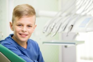 young boy at orthodontist in Greenfield