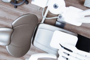 Dental chair at orthodontist in Northampton.